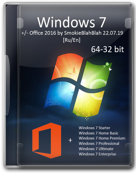 Windows 7 SP1 x86_x64 Ru с MS Office 2016