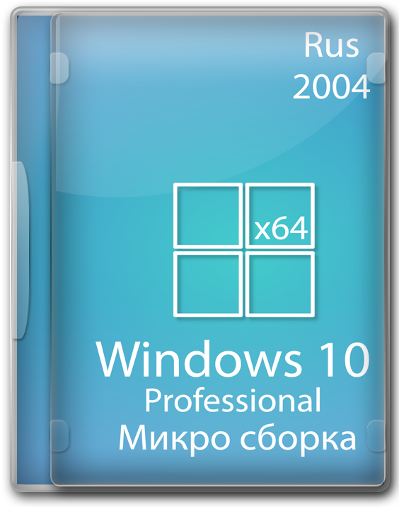Windows 10 PRO 2004 64 bit micro